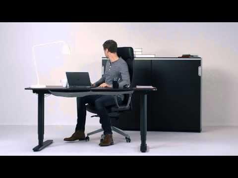 Ikea bureau bekant structure assis debout bureaux meubles