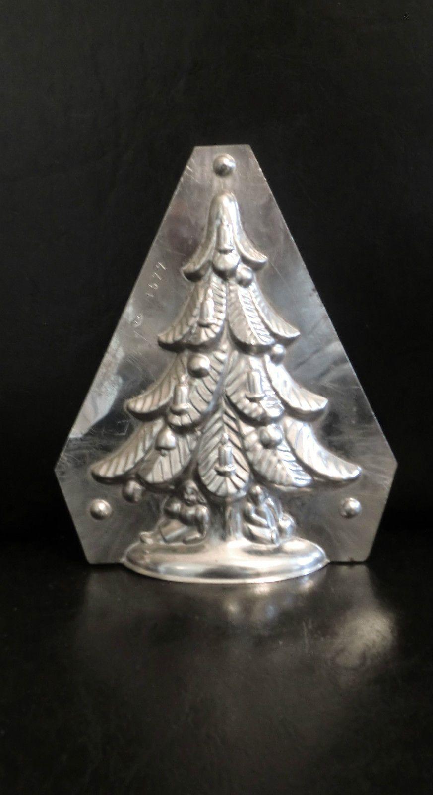alte schokoladenform tannenbaum weihnacht metall ebay schockoladenformen. Black Bedroom Furniture Sets. Home Design Ideas