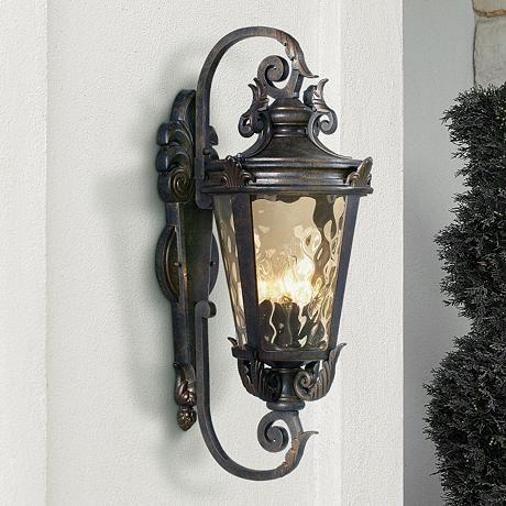 Casa marseille 27 1 2 high outdoor wall light style 61698
