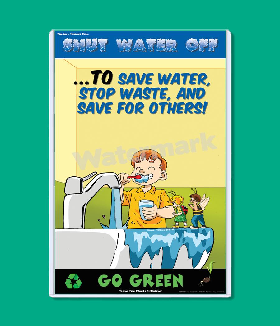 Kids Environmental Posters Shut Water Off Environmental Posters