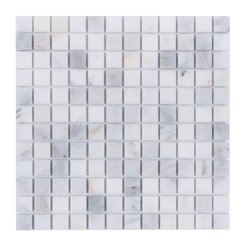 Carrara white marble tile 1 square mosaic diy backsplash shower carrara white marble tile 1 square mosaic diy backsplash shower floor wall doublecrazyfo Gallery