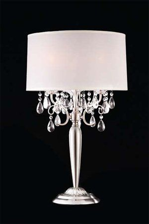 Shining Crystal Silver Table Lamp Adsok 50109t Click 2 Go Http