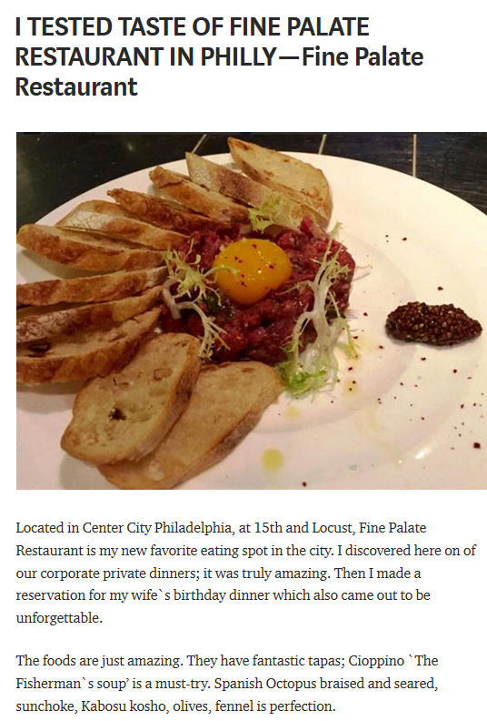 Fine Palate Restaurant Philadelphia Https Medium Finepalategroup I