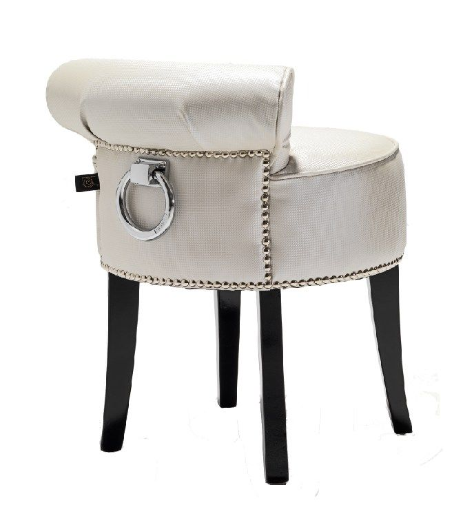 White Pearl Dressing Table Stool