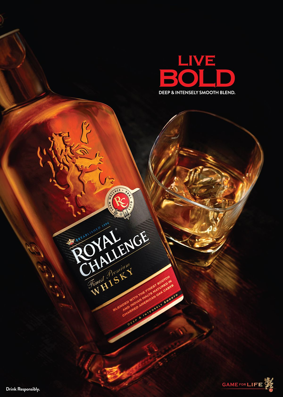 Royal Challenge Whisky Product Campaign 2015 On Behance Whisky Alcohol Dispenser Strong Drinks