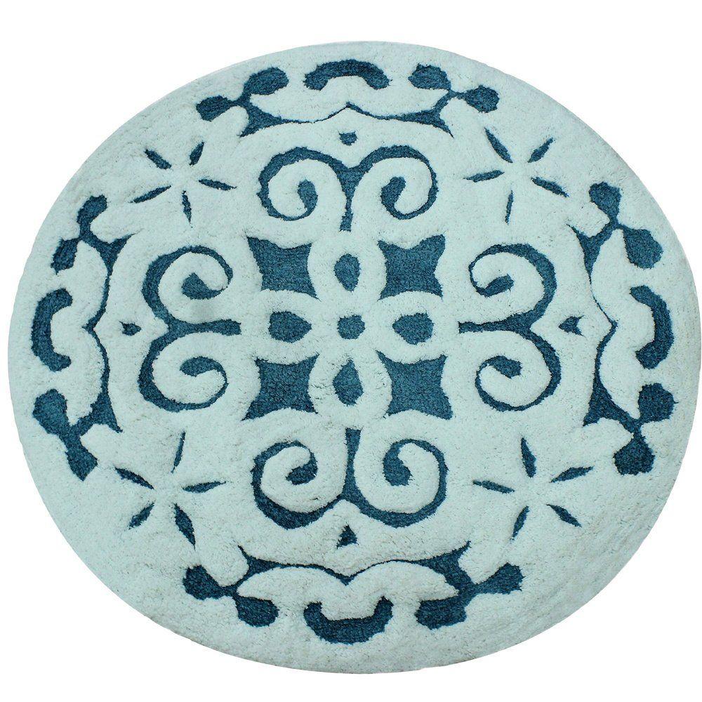 Saffron Fabs Soft Cotton Non Skid Pattern 200 Gsf 36 Inch Round