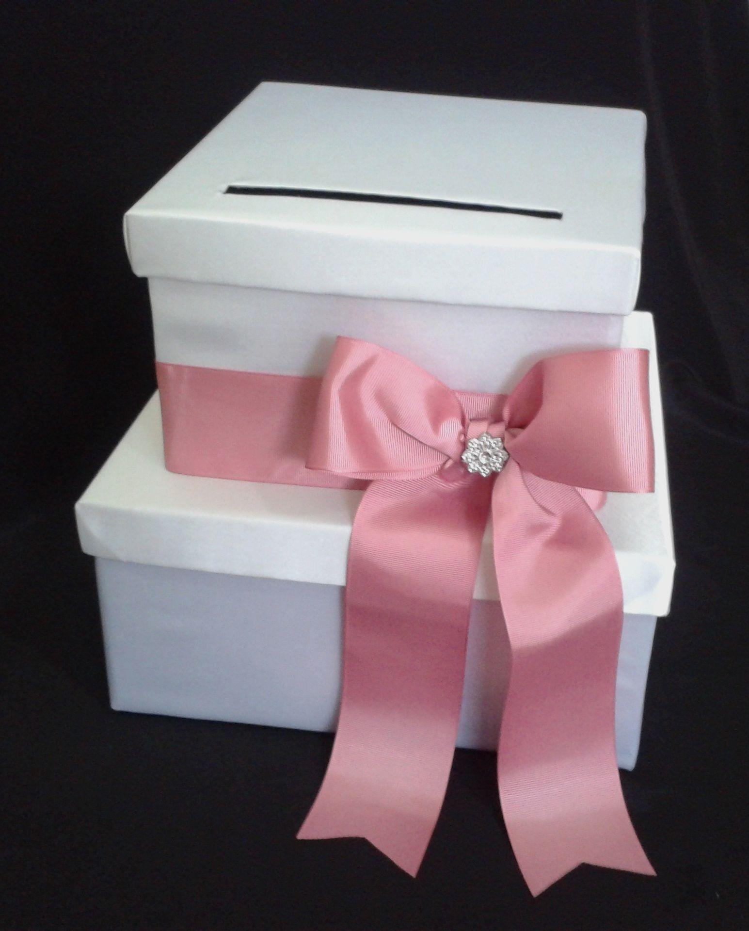 Ca_136 Caja para Sobres Blanco_Guayaba para #15años o #bodas | Ideas ...