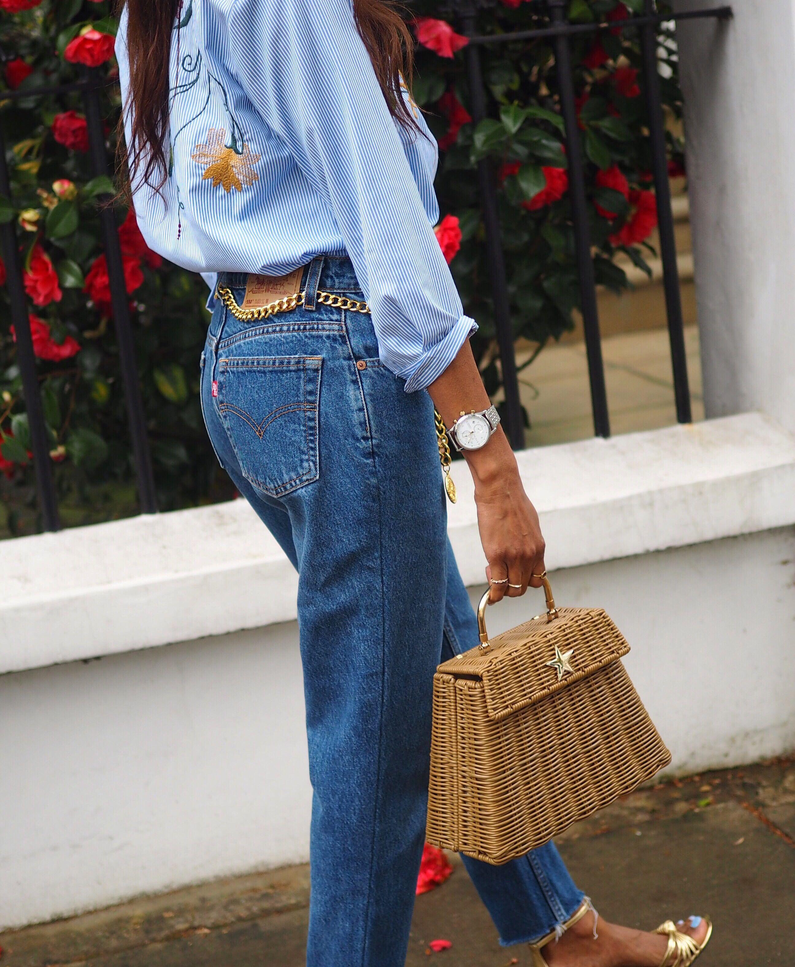 Straw Basket Bag Handbag Handbags Uk