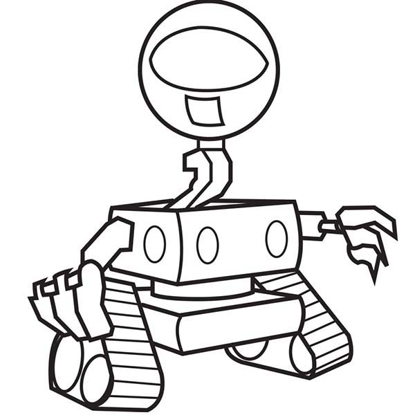 One Eyed Robot Coloring Pages Best Place To Color Coloring Pages Color Coloring Pictures