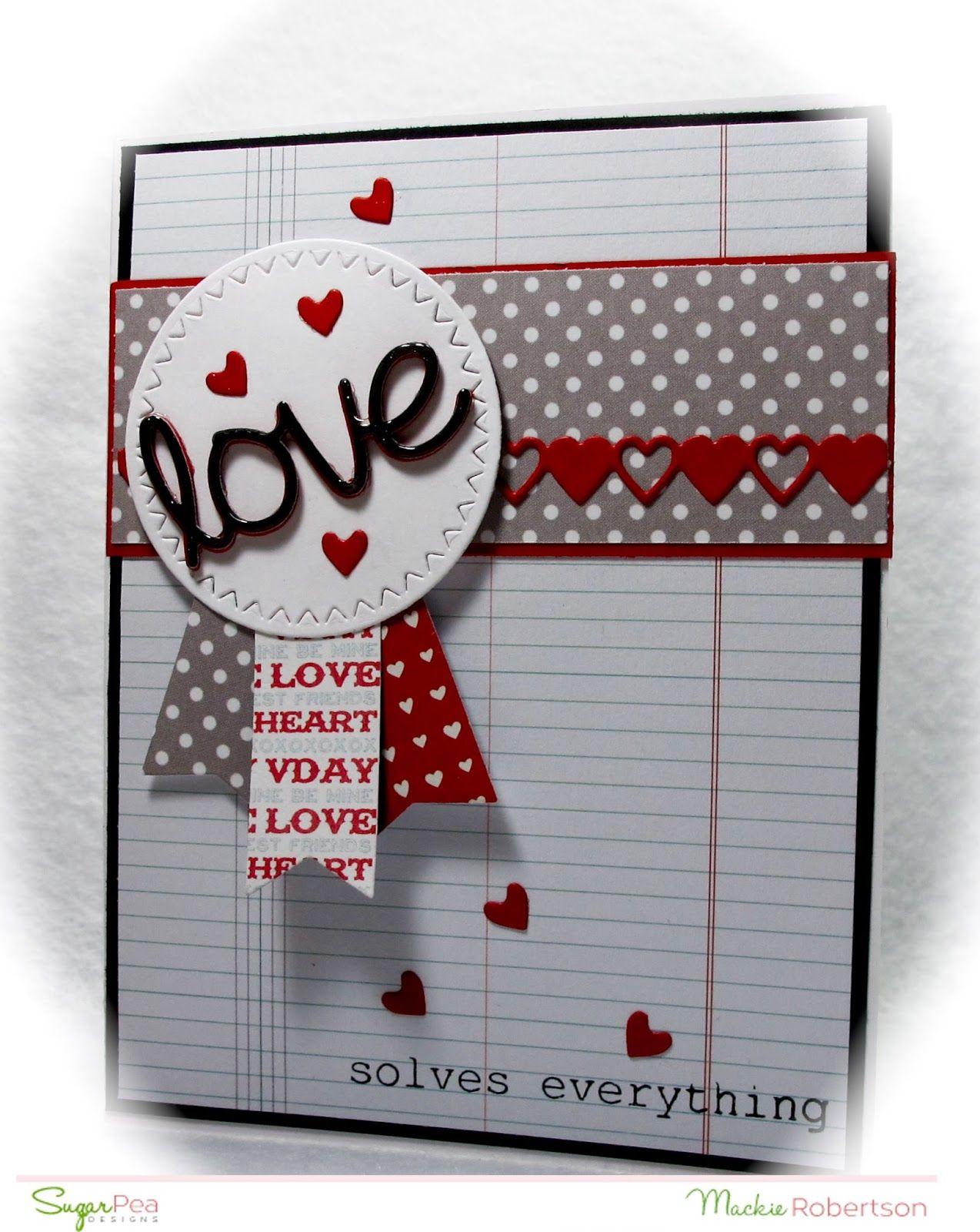 Mackiemade paper creations sugarpea designs valentines