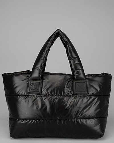 17b4cdfcb5ca Chanel Black Nylon Puffy Tote