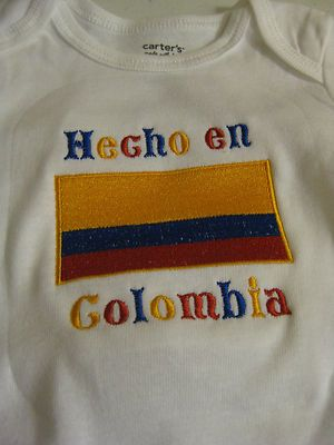 Hecho En Colombia with Colombia Flag Carter's Baby Bodysuit | eBay