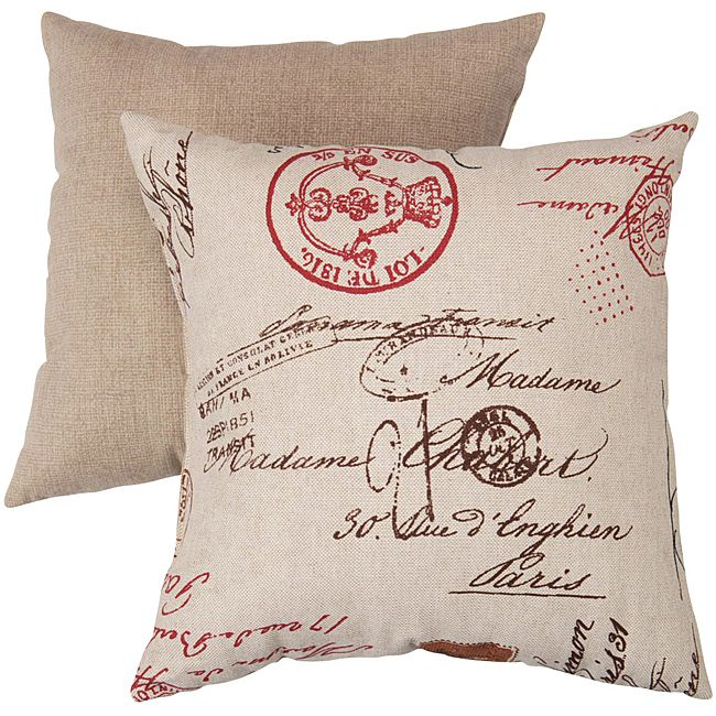 Add some vintage charm to any room with this throw pillow fromPillow Perfect. Featuring a cotton blend cover and polyester fill, this pillow adds both comfort and style to yourseating area. The unique