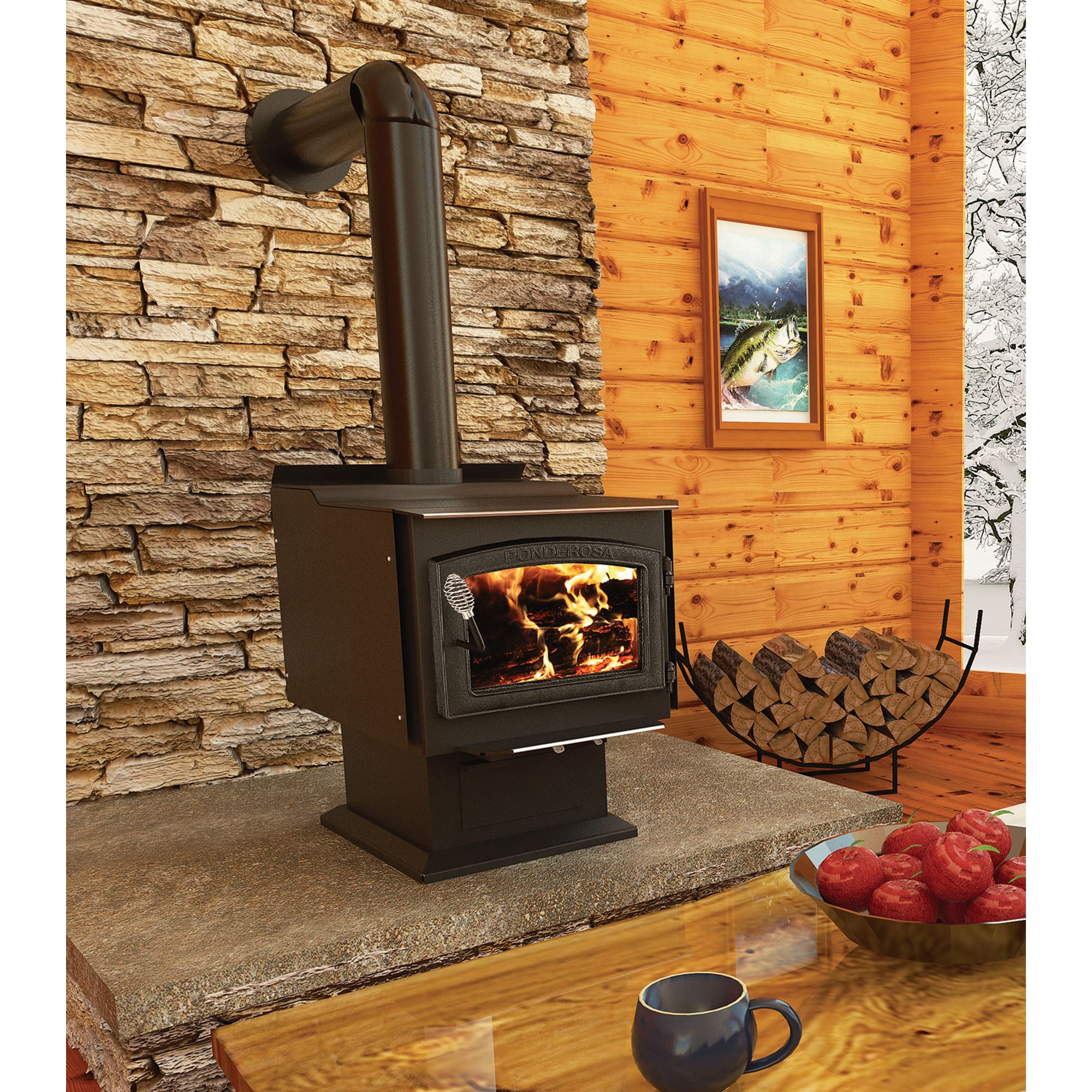 high efficiency wood burning fireplace. Vogelzang Ponderosa High-Efficiency Wood Stove \u2014 152,000 BTU, EPA-Certified, Model# TR007 High Efficiency Burning Fireplace E