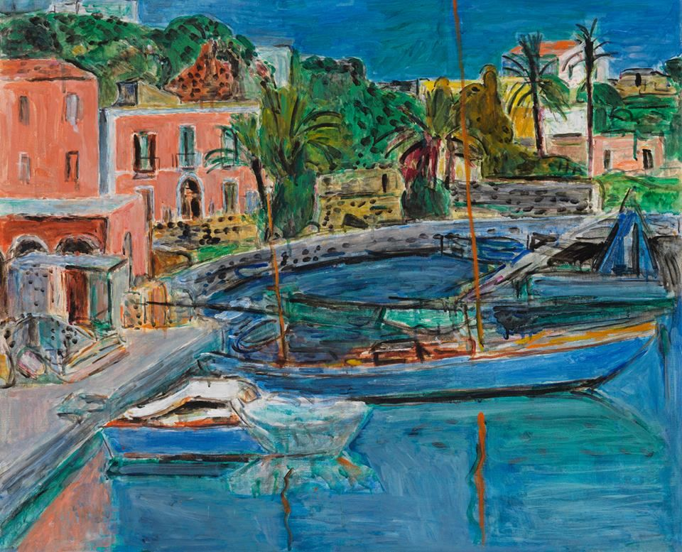 Hans Purrmann (Germany 1880-1966) Der Hafen von Porto d'Ischia - The Harbour at Porto d'Ischia (1955) oil on canvas 60.2 x 73.4 cm