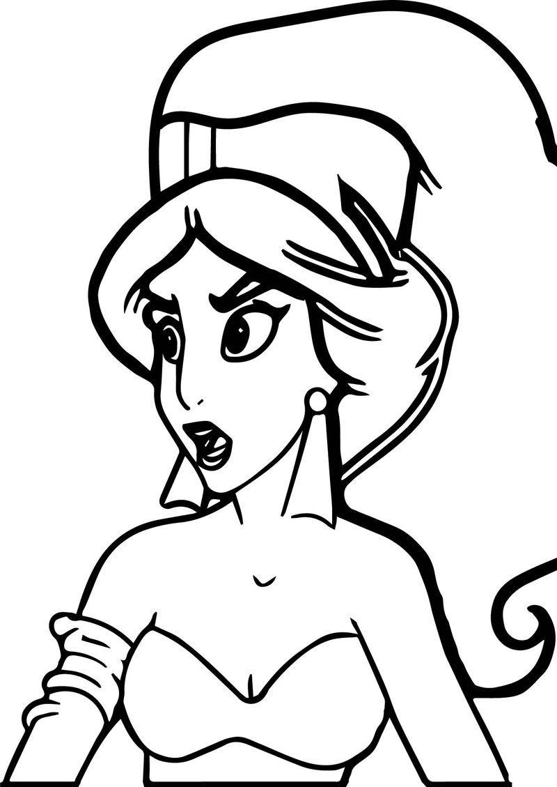 Princess Jasmine From Aladdin Movie Coloring Page Disney Princess Coloring Pages Princess Coloring Pages Sailor Moon Coloring Pages