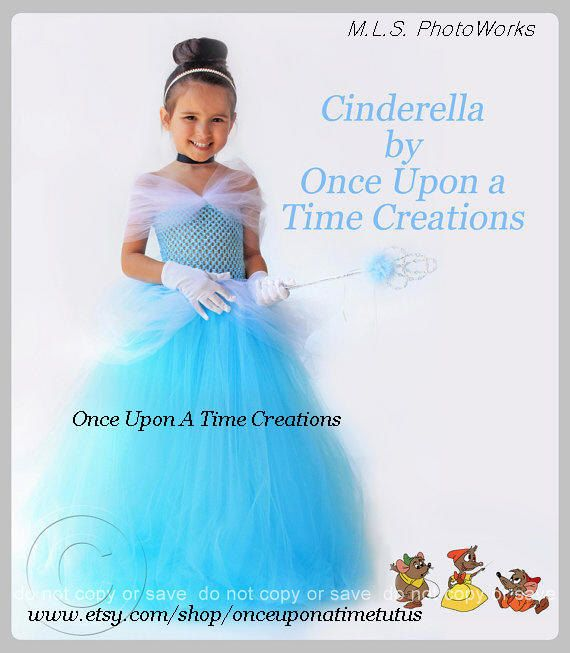 Cinderella Princess Character Dress Child 3t 4t 5 6 7: Blue Fairy Tale Princess Tutu Dress