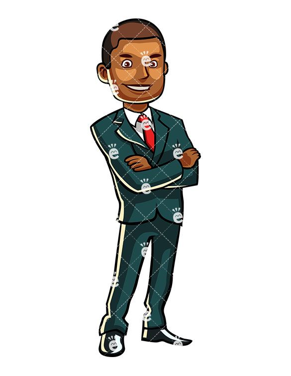 A Formally Dressed Black Male Standing Confidently Friendlystock
