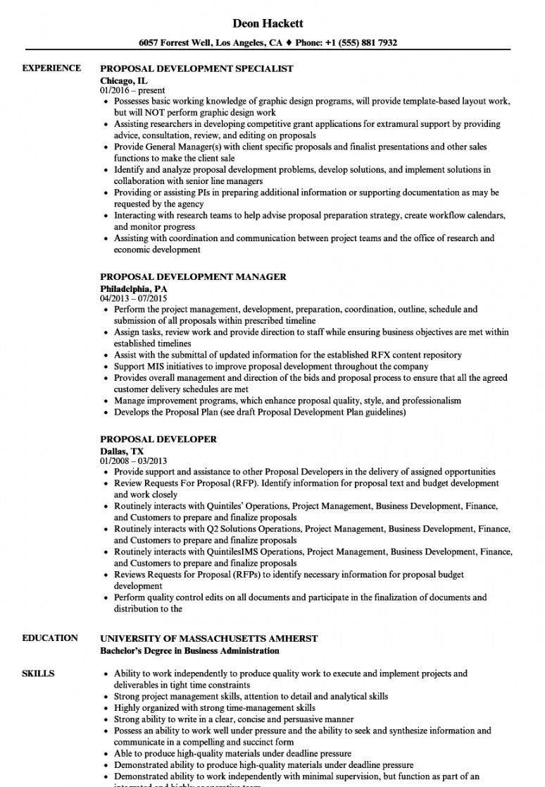 Curriculum Proposal Template Project Manager Resume Resume Examples Manager Resume