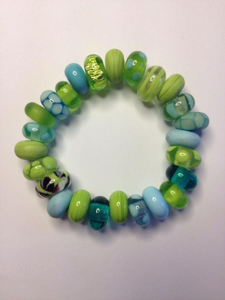 Glas Beads Armbånd