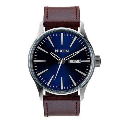 Nixon: The Sentry Leather blue/brown $150