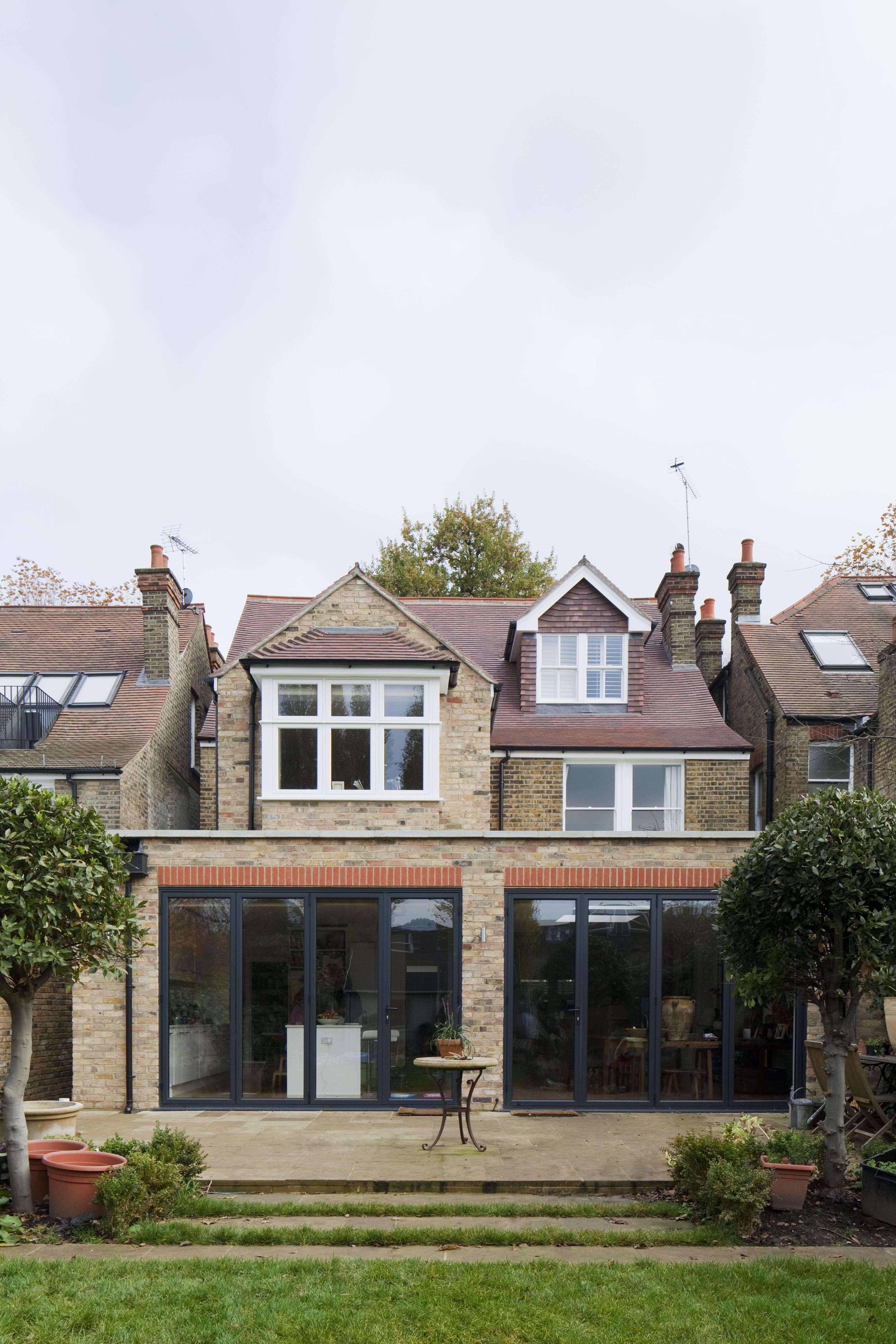 Rear Extension - Brick - Flat Roof - Hidden Drainage