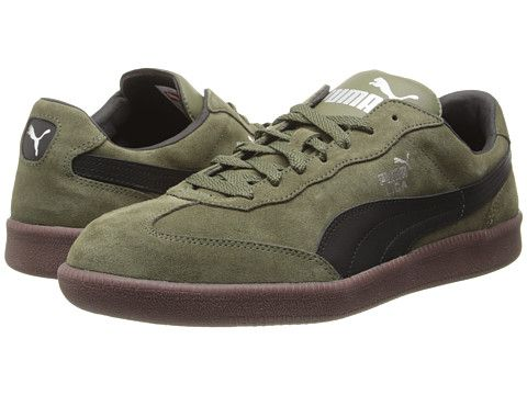 PUMA Liga Suede Classic Burnt Olive/Black - Zappos.com Free Shipping BOTH  Ways