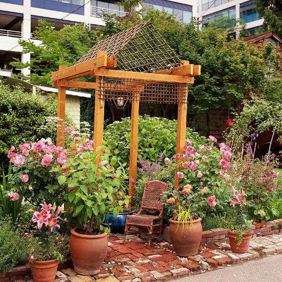 Garten fr hling topfpflanzen deko idee garten garten garten ideen und pergola - Topfpflanzen garten ...
