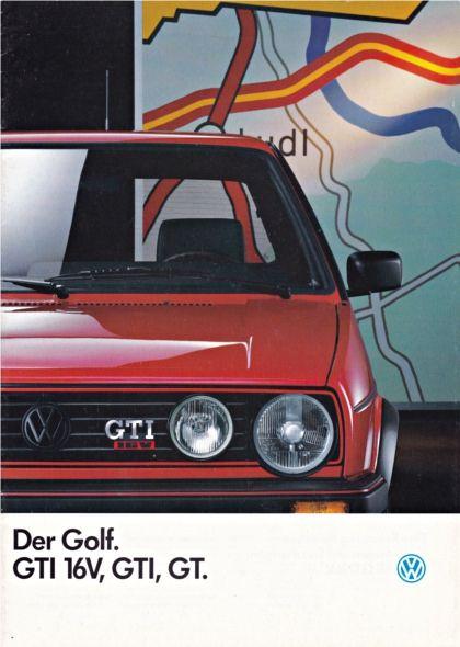 volkswagen golf gt gti and gti 16v brochure 08 1987 volkswagen rh pinterest com 1992 VW Golf GTI VW GTI Wolfsburg Edition Wheels