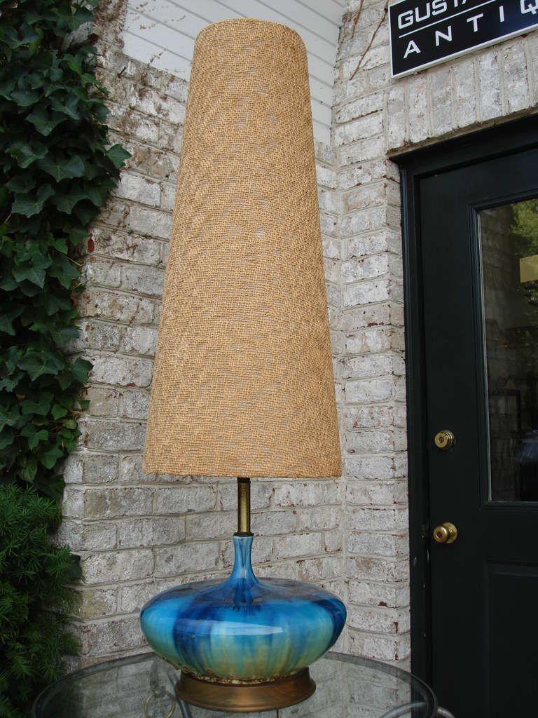 1stdibs Extra Tall Mid Century Ceramic Lamp