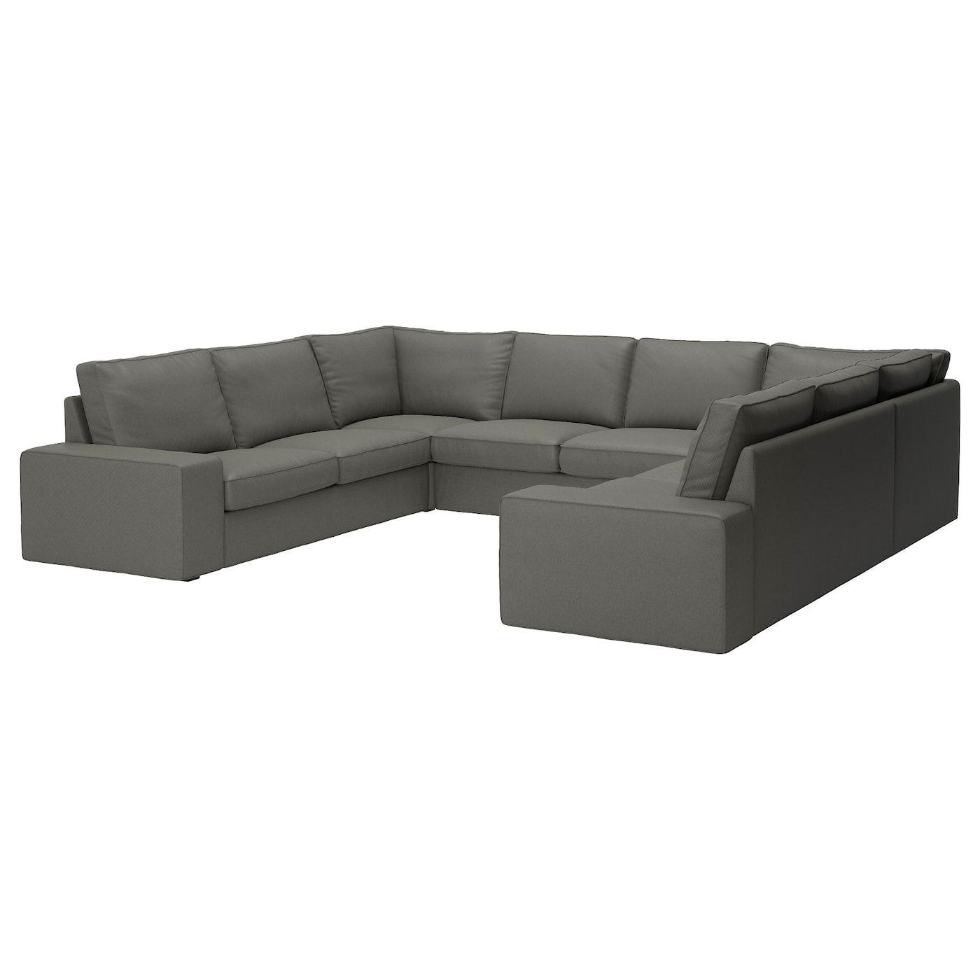 Kivik Sofa U Form 6 Sitzig Borred 8 Platze Graugrun Sofa U Form