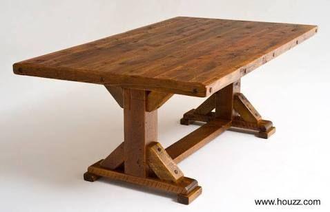 mesa rustica de madera Buscar con Google mesas Pinterest