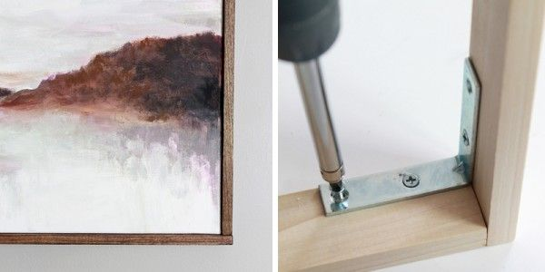 Tutorial: Chic Floating Frame for a Canvas   craft sense   Pinterest ...