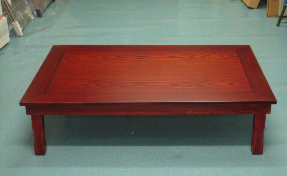 Korean Dining Table Wood Legs Folding Rectangle 120x80cm Living