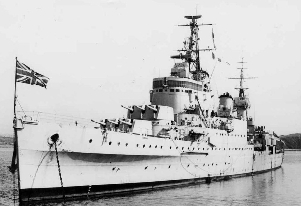 Hms Newcastle C76 Was A Town Class Light Cruiser Of The British