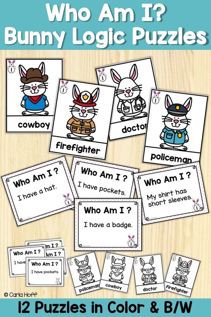 Bunny Logic Puzzles Who Am I? Logic puzzles, Logic