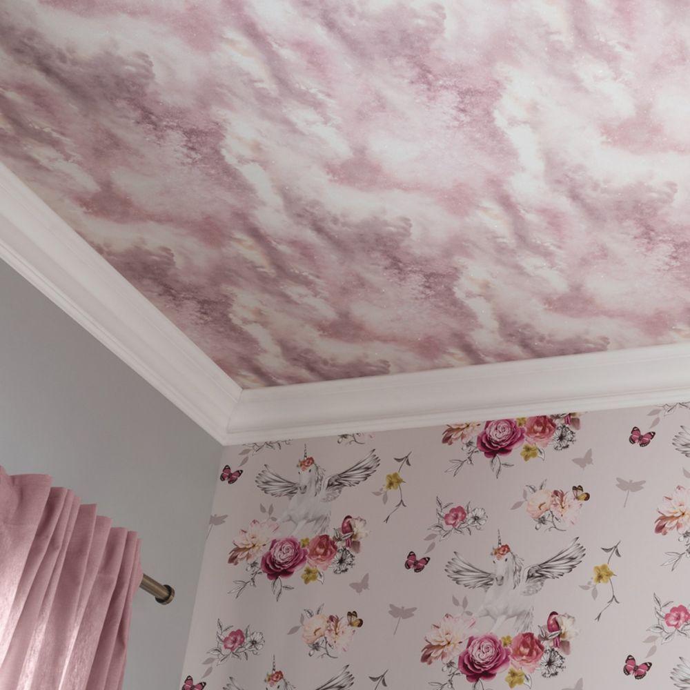 5c8b704b44fd81 Diamond Galaxy Cloud Wallpaper Blush Pink Feature Wall Arthouse 260006