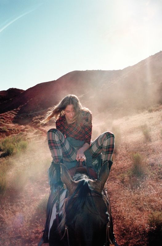Fashion photography I by Cass Bird I feeling free I horseriding I nature I mixed prints trend I plaid & tartan @Mon Style App