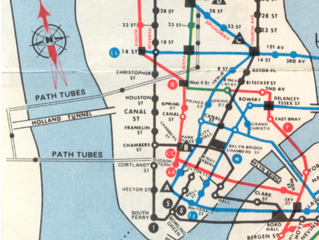 Lower Manhattan map Tunnels Pinterest Manhattan map and Lower