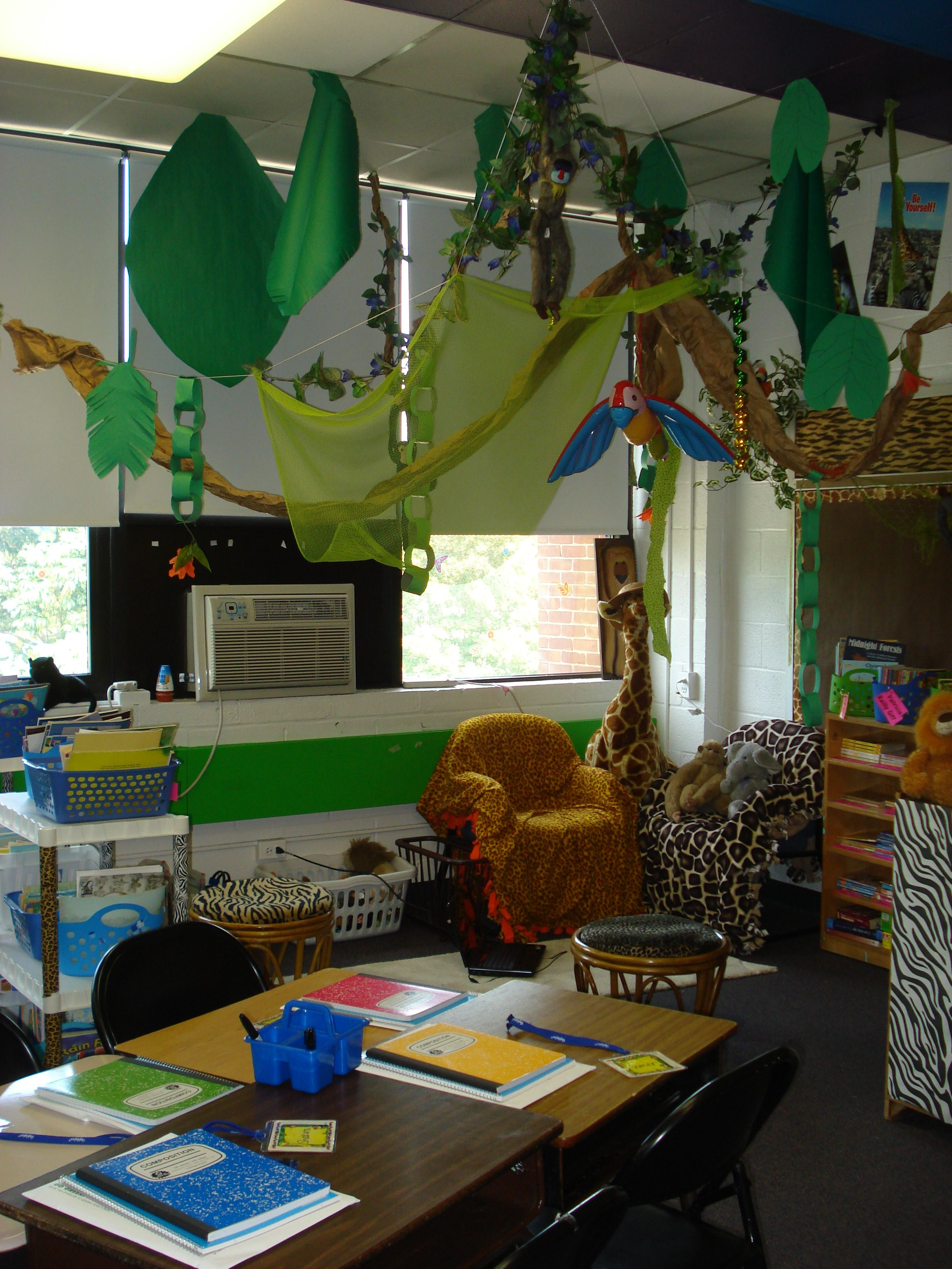 Classroom Theme Ideas For 3rd Grade ~ Third grade  classroom library jungle theme