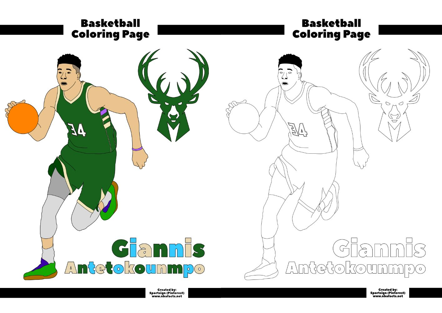 Pin On Free Nba Coloring Pages