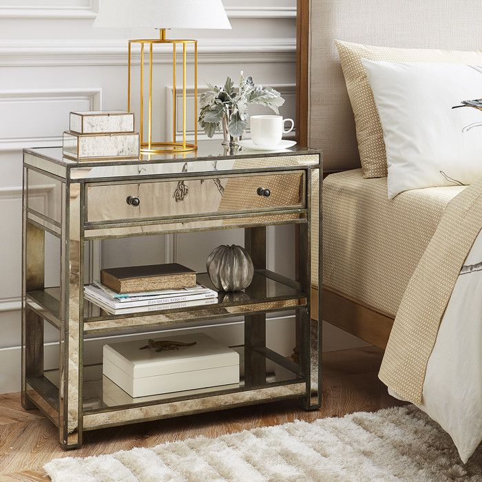 DwellStudio Greer Mirrored Side Table Reviews Wayfair - Wayfair mirrored side table