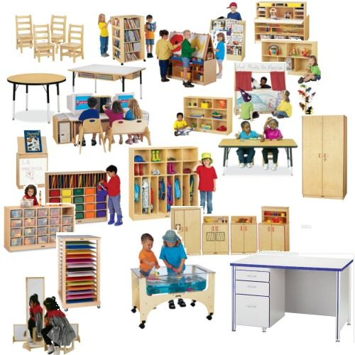 Preschool classroom birch furniture set for 16 students for Ikea daycare furniture