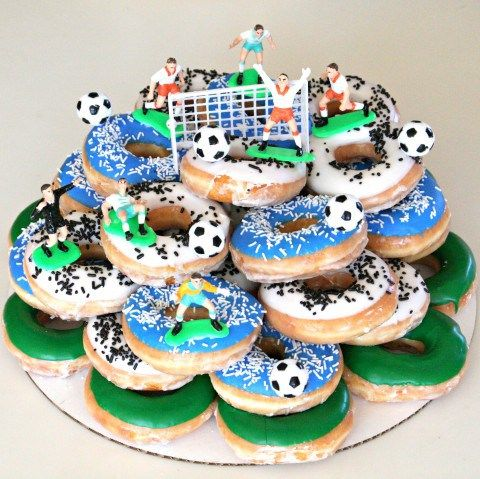 Soccer Donut Cake Doughnuts And Shops In 2019 Donut