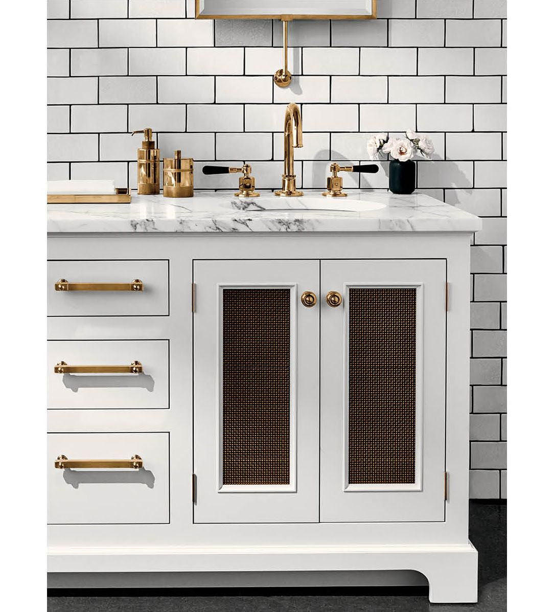 Belden Cabinetry With Mesh Inserts Traditional Bathroom Bathroom Design Small Bathroom