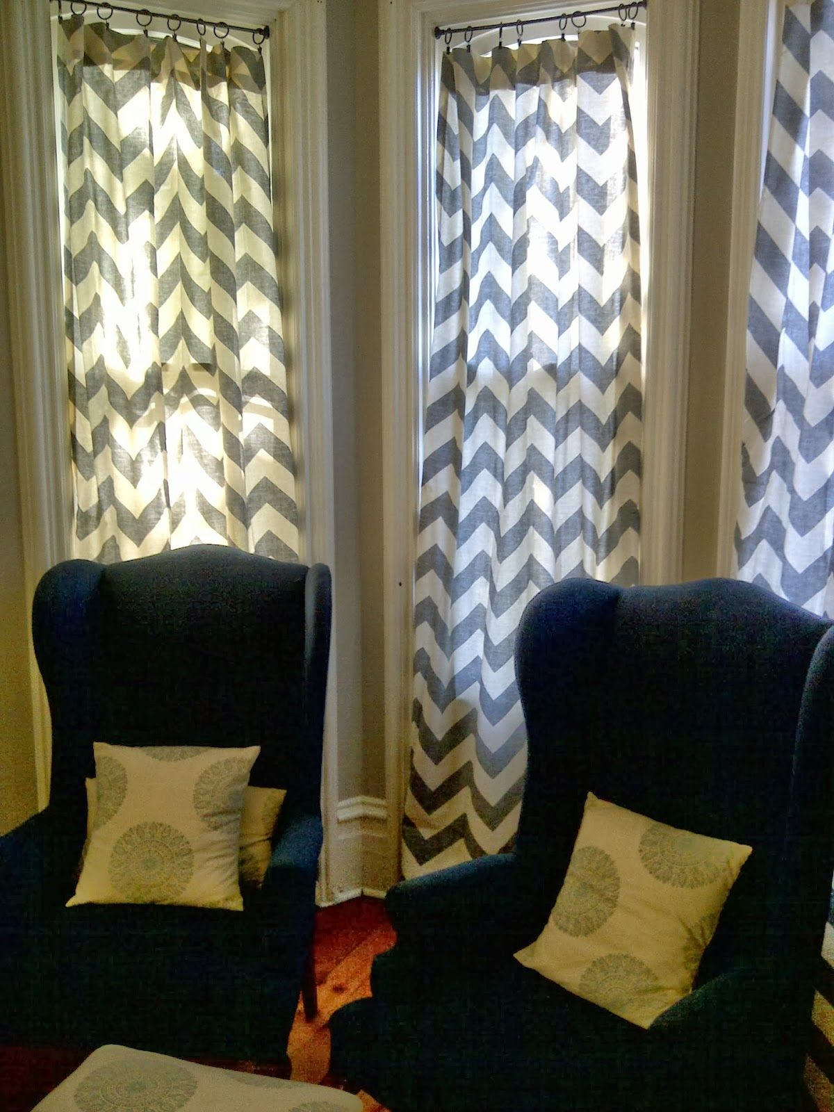 Chevron Living Room Curtains Red And Gray Designs Brick Home Love New My Special Things