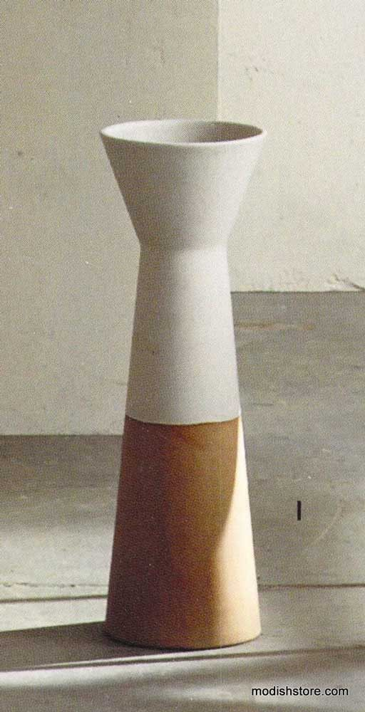 Roost Creamy Stone Morandi Vase Tall Wide Dining Room Sideboard
