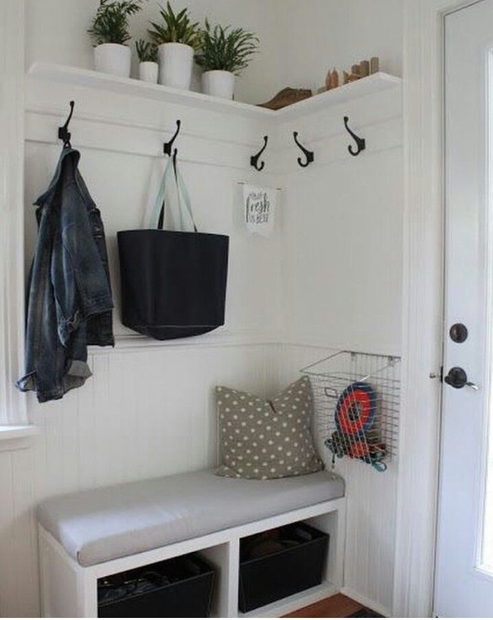 Shelf With Hooks Front Entryway Decorsmall