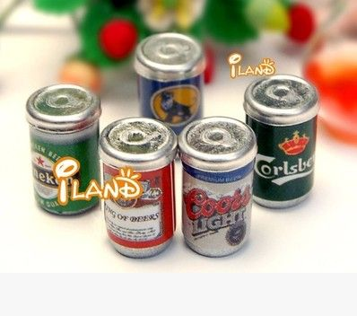 latas de metal de calidad = cervezas Dolls house pub =