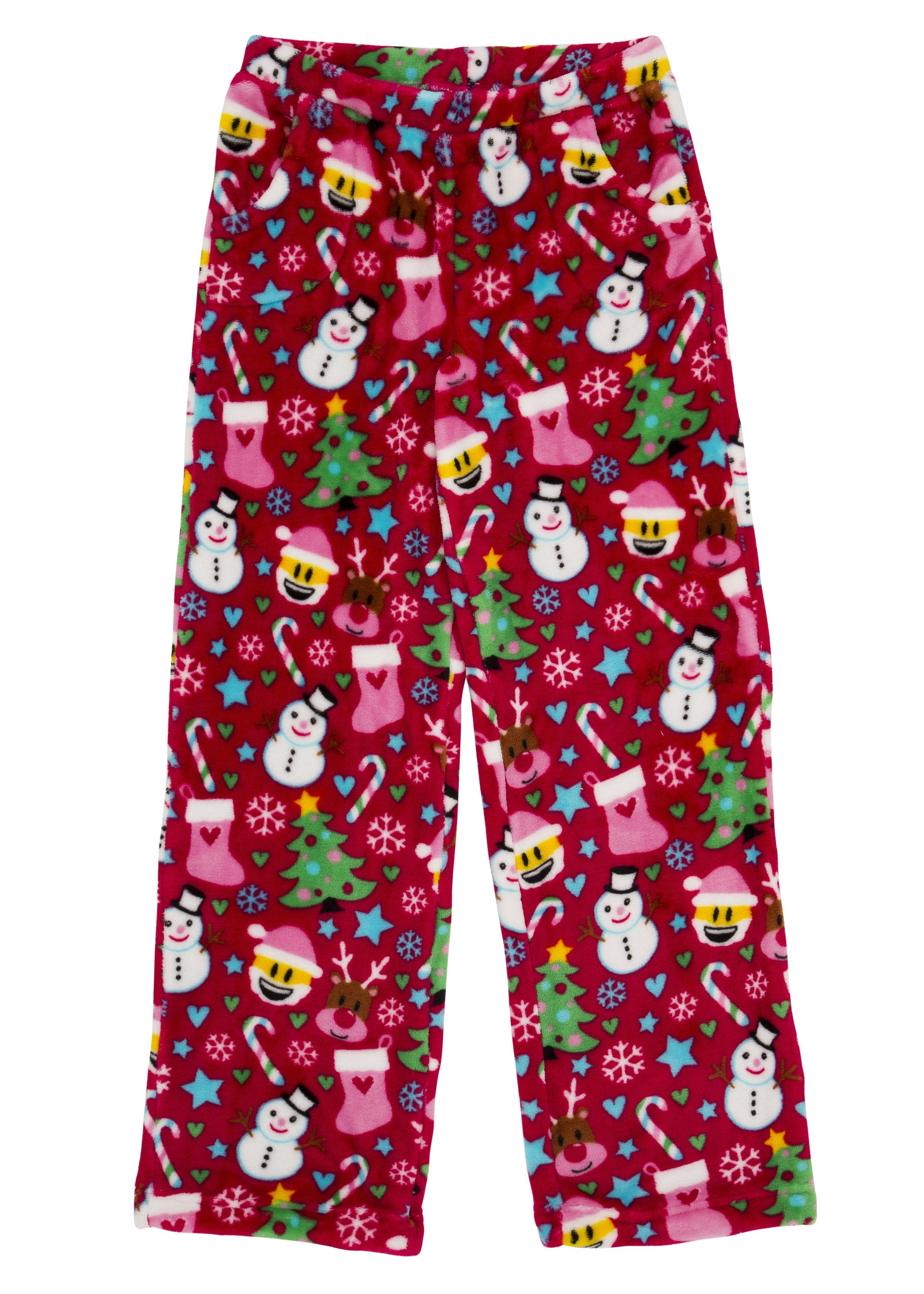 9f47ded30 Emoji Christmas Fuzzy PJ Pants by Candy Pink in 2019